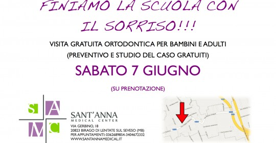 Open day ortodonzia Sant'Anna Medical Center Lentate sul Seveso 7 Giugno 2014